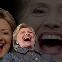 photo of hillary clinton laughing